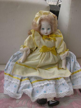 stara porcelanowa lalka 47cm