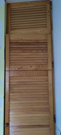 Drzwi ażurowe sosnowe 4 sztuki, szerokość 49 cm