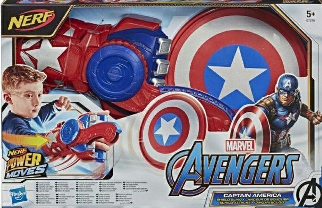 Marvel AVENGERS  Kapitan Ameryka  Rękawica  NERF  E7375 Hasbro