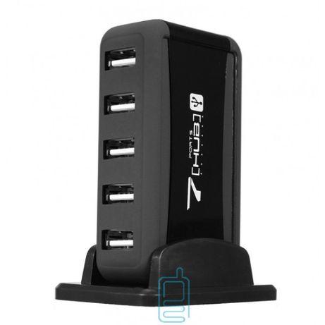 Hub 7 PORT USB 2.0 + adapter black