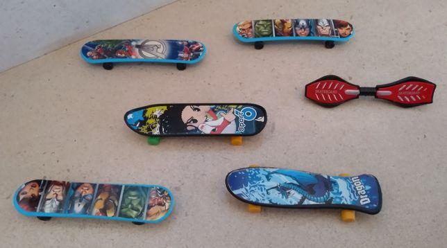 Conjunto de 6 mini skates