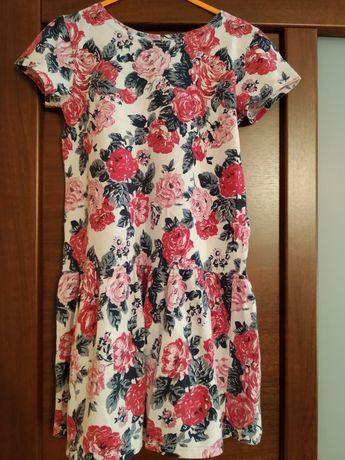 Sukienka w kwiatki, r. 128