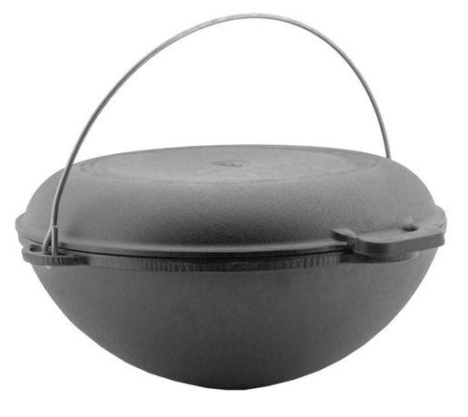 Казан чугунный азиатский с крышкой сковородой на 8л Крышка сковородка