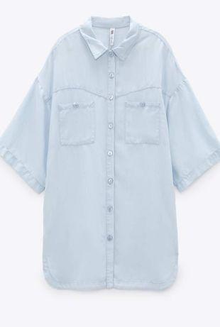 Платье рубашка Zara. Размер М.