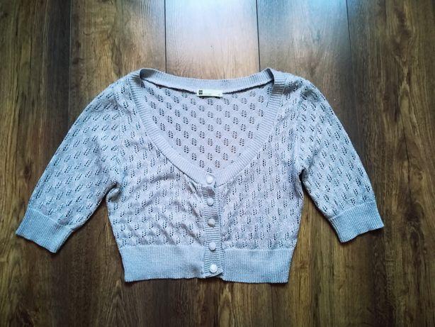 Sweter bolerko ażur miso 40 L Częstochowa