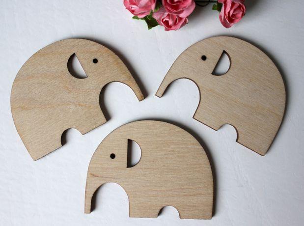 Слоники 6 см - деревянные заготовки для декупажа и росписи
