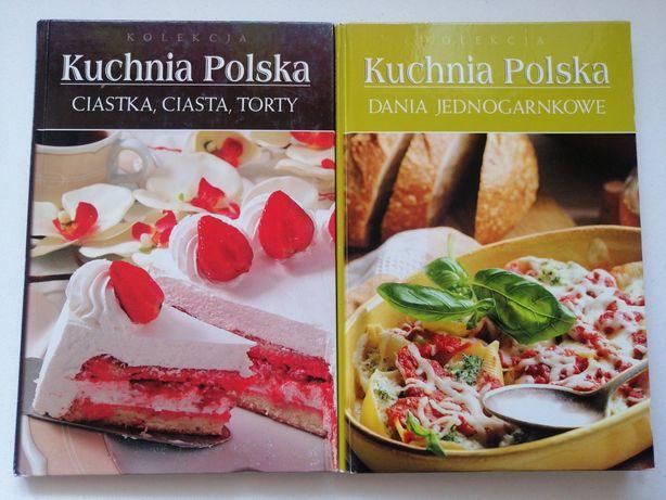 2 książki Kuchnia Polska Dania jednogarnkowe + Ciastka, ciasta, torty
