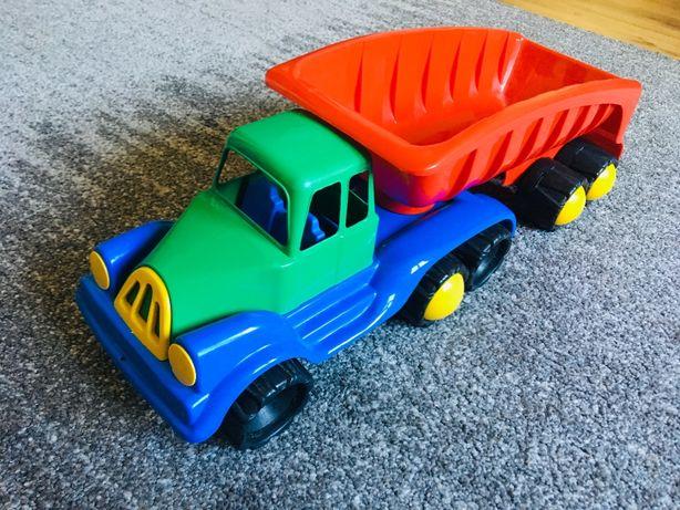 Plastikowy pojazd ciężarówka wywrotka