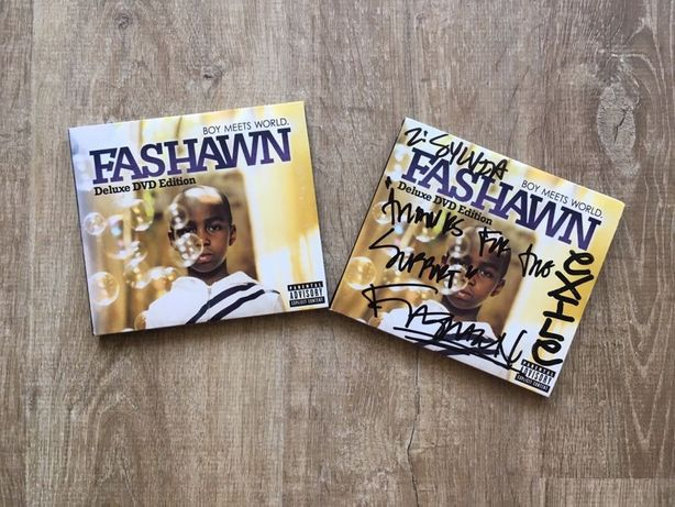 "Płyta Fashawn ""Boy meets world"" DVD deluxe edition autograf"