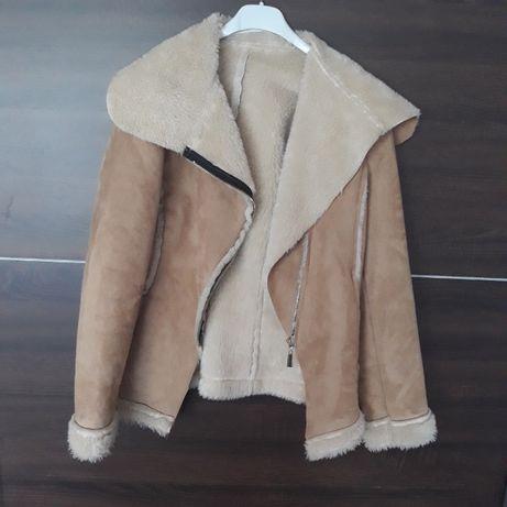 Kożuszek kożuch plaszczyk plaszcz kurteczka zimowy ocieplana ramoneska