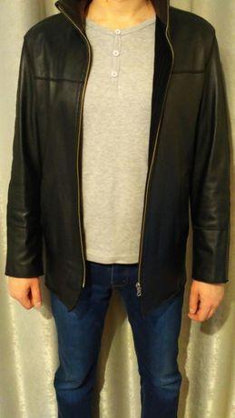 Хорошая мужская кожаная куртка. Осень-весна