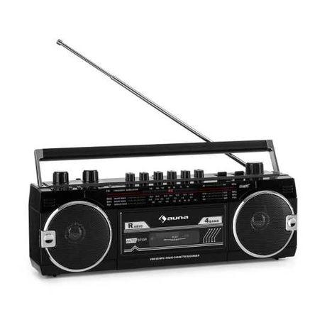RADIO klasyczny radioodtwarzacz kasetowy złącze USB, SD OKAZJA! A2