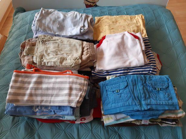 54 rzeczy. Ubrania dla chłopca. Różne. Rozmiar 62-68.