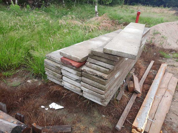 Płyty betonowe 201x30cm, 25szt.