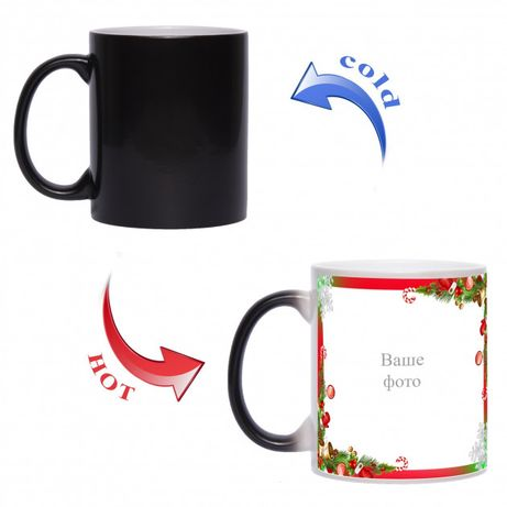 Магическая чашка, хамелеон. Печать на чашках.