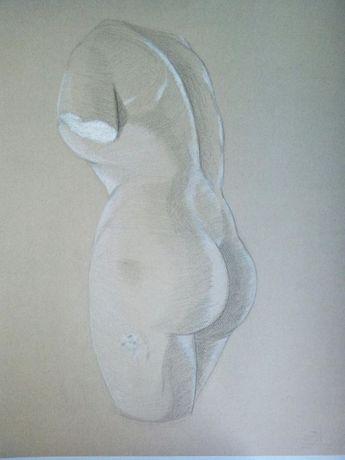 Desenhos de estátuas a carvão e pastel de cera - PORTES GRÁTIS