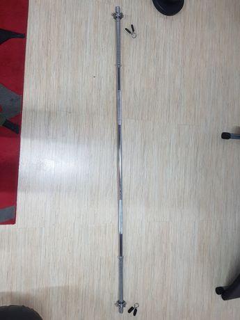 gryf prosty 180cm sztanga prosta + zaciski 30mm 8kg