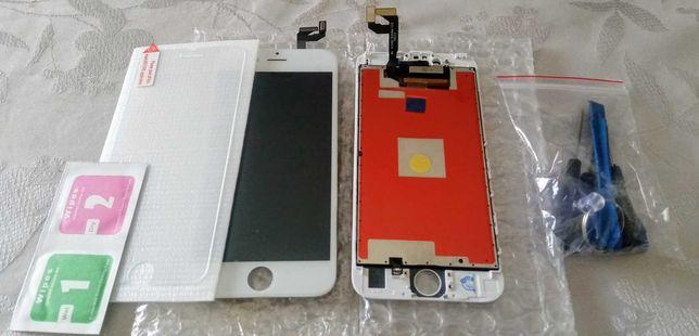 Ecrã LCD iPhone 6S Branco - Novo + vidro temperado