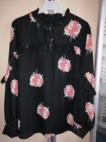 Шифонова блуза у гарний принт