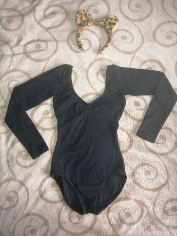 Body czarne rozmiar S small długi rękaw strój taneczny