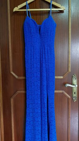 Vestido azul renda (cerimónia)
