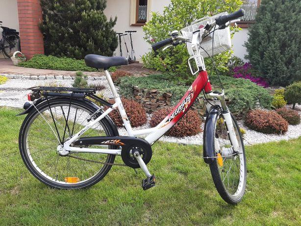 Rower PEGASUS AVANTI koła 24 dziewczynka 8 10 lat amortyzator dynamo