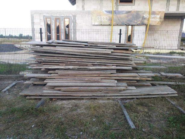Witam sprzedam deski szalunkowe pozostałe z budowy.