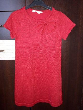 Sukienka z błyszczącą nitką H&M - roz. 122/128