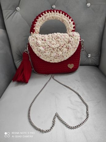 Romantyczna torebka na szydełku Francja Elegancja