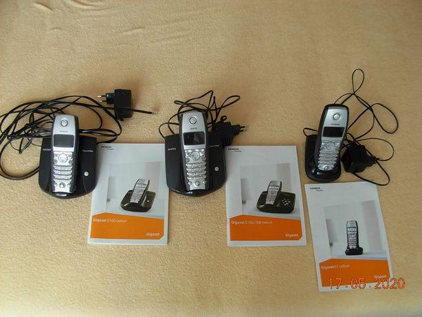 Telefony stacjonarne bezprzewodowe Siemerns S 100 z kolorowym ekranem