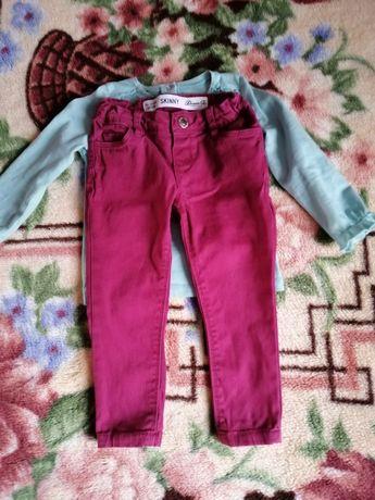 Джинсы скины для девочки 1-2 года