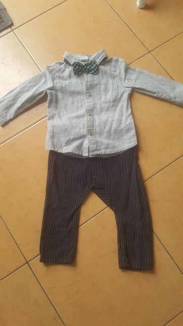 Zestaw komplet H&M koszula spodnie mucha 74 j.nowy
