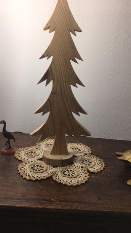 Choinka ,drewno , ozdoby , rękodzieło Boże Narodzenie