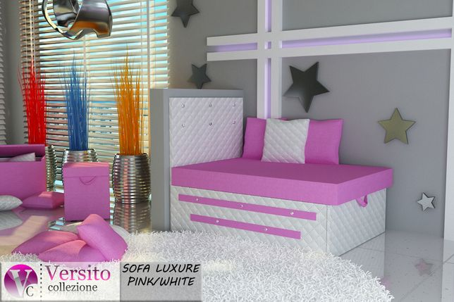 Łóżko dla dziecka,dziecięce,fotel rozkładany,pojemnik na pościel.
