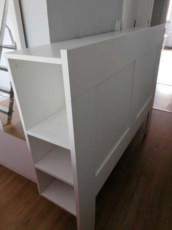 IKEA Cabeceira com arrumação -  Brimnes branco 146cm