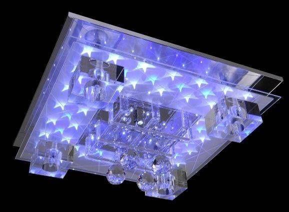 Nowoczesna lampa ROXANE LED+G4+pilot chrom szkło 3D Leuchten Direkt