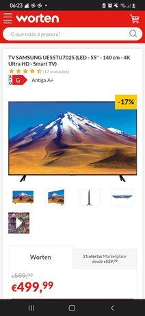 Tv smart Samsung semi nova poucos meses de uso