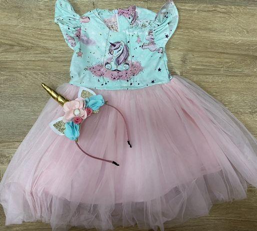 Нарядное платье, набор фатин праздничное +обруч