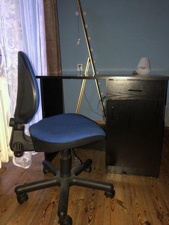 Biurko czarne plus fotel obrotowy