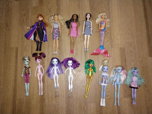 Куклы Barbie Monster High Mattel Anna Hasbro Frozen русалка