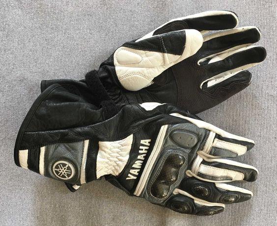 """Rękawice motocyklowe Yamaha rozmiar """"S"""" biało czarne"""
