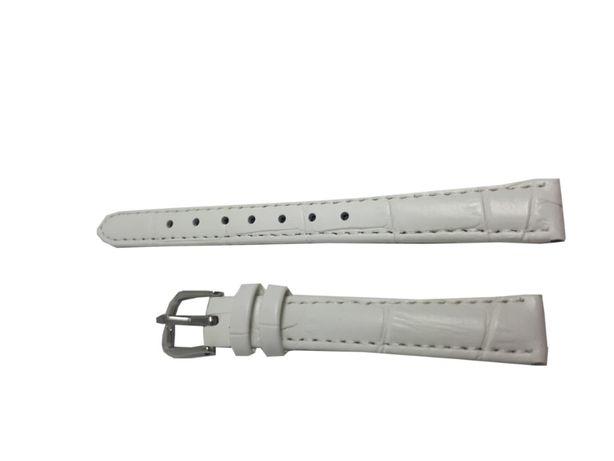 Pasek do zegarka Jinshoulian 12 mm biały.