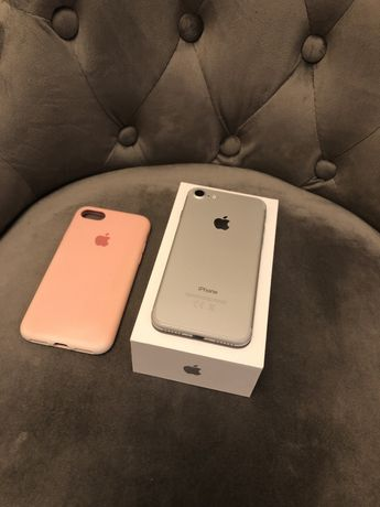 Iphone 7 Silver 32GB Idealny Stan
