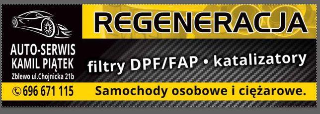 Regeneracja filtrów DPF FAP katalizatorów EURO6