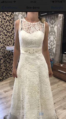Продам кружевное красивое свадебное платье