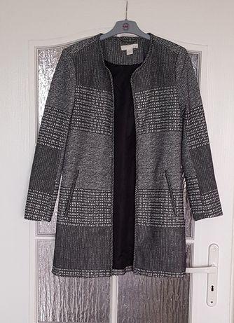 PŁASZCZYK czarno-biały z H&M, rozmiar 38, blezer, marynarka, kurtka