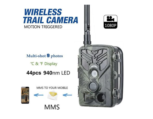 Câmara de caça com envio MMS/e-mail 16Mp 1080p noturna impermeável
