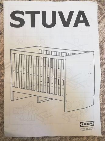 Berço conversível em cama IKEA com 2 gavetas