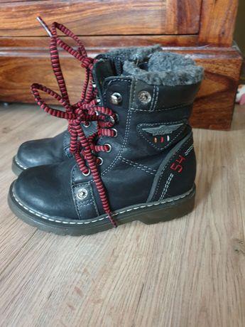 Buty zimowe skórzane dzieciece rozm 27