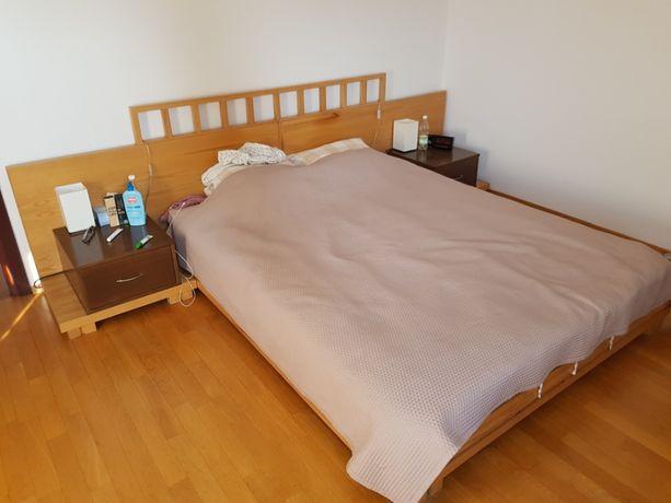 Komplet mebli do sypialni (łóżko, komoda, szafki nocne)